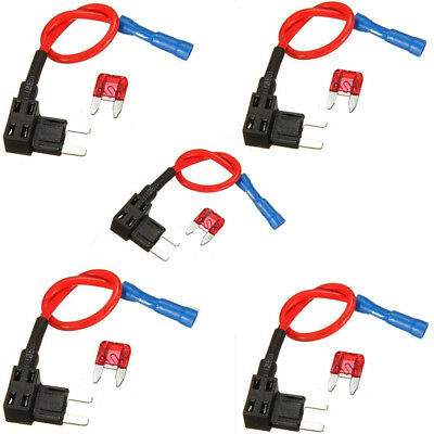 Add A New 10A Splice Set Fuse Holder Circuit Blade Auto 5pcs Mini Kit Durable