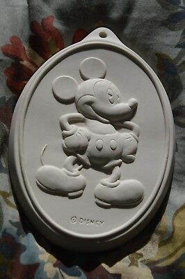 Disney Mickey & Co Mickey Mouse Ceramic Oval Cookie Flip Mold Press Stamp