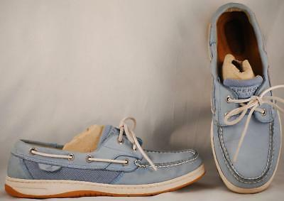 Women's Sperry Top Sider Medium Blue Leather Boat Shoes 8 M
