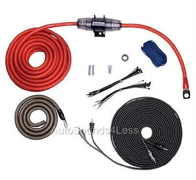 Rockford Fosgate RFK4I True 4 Gauge Amplifier Wiring Kit Twisted Pair RCA Cable