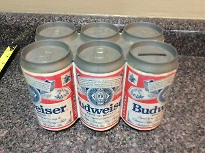 Vintage 1970's Collector's Budweiser Beer Can Reusable Coin Bank