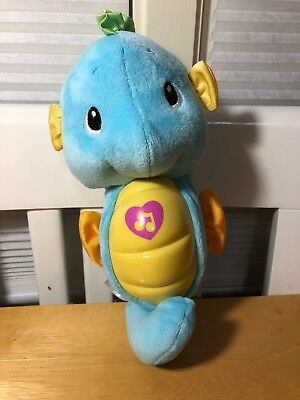 Fisher-Price Ocean Wonders Soothe And Glow Blue Seahorse Baby Toy