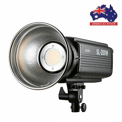 AU Godox LED SL-200W 5600K Studio Photo Continuous Video Light Lamp Bowens Mount