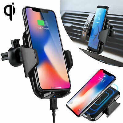 Fast Qi Wireless Car Charger Air Vent Holder Mount for Samsung S9 Note9 iPhone X