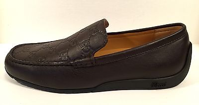 e48cdaac83d Gucci Men s Moccasin Loafer Driver Shoe Slip On Brown Leather GG 269985 5.5  G