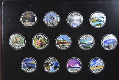 2017 Celebrating Canada's 150th Anniversary Silver Coin Collection W/ All OGP