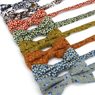 Men Tuxedo Floral Pre-tied Bowtie Wedding Party Adjustable High Grade Bow Tie