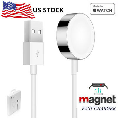 US 1M Magnetic Charger Charging Cable For Apple Watch Edition iWatch 38mm & 42mm