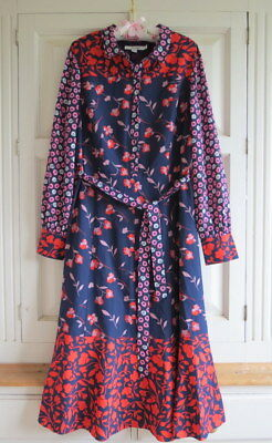 1711b213bf8d NEW BODEN SYBIL Midi Shirt Dress UK 18 (US 14 EU 44 46) Navy ...