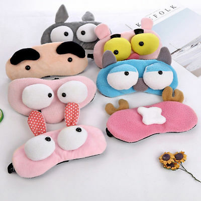 Night Eye Mask Animals Sleep Padded Shade Cover Travel Relax Eyeshade Breathable