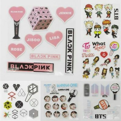 DIY KPOP Bubble Stickers Cartoon BTS EXO TWICE WANNA ONE Phone Laptop Sticker