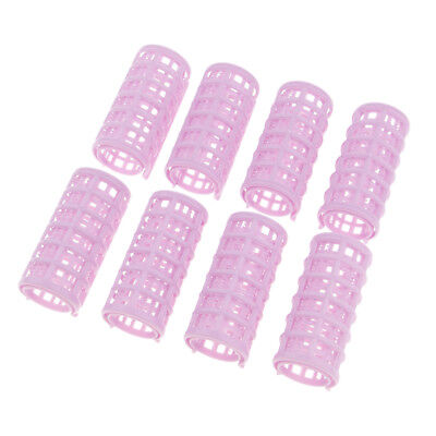 8 Pcs Plastic Makeup DIY Hair Styling Roller Curlers Clips for Hair Bangs