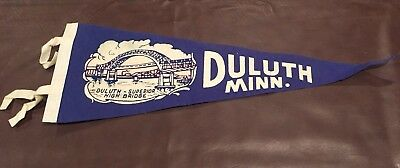 Vintage Duluth Minnesota Lake Superior Lift Bridge Felt Pennant