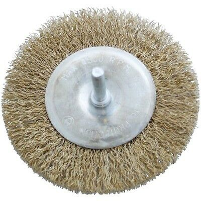 Amtech 4 Inch Wire Wheel Brush With 1/4 Inch Shank Max 4500 RPM