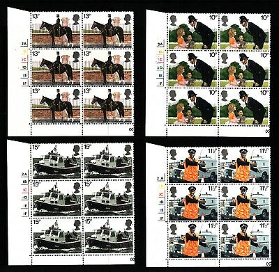 1979 GB, Police, NH Mint set of Blocks of Six Stamps, SG 1100-3
