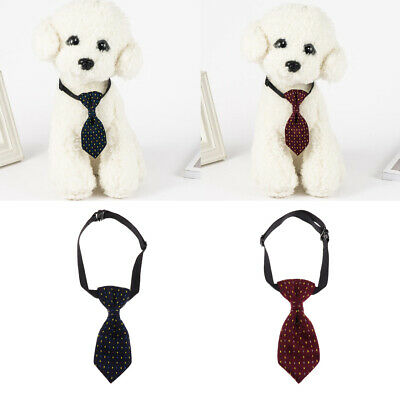2Pcs Adjustable Grooming Necktie Puppy Kitten Adorable Bow Tie For Dog Cat Pet