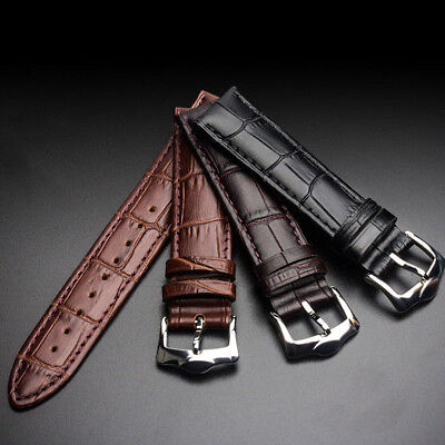 Replacement Genuine Leather Watch Strap Band Mens Wrist Band Buckle Wrist Belt