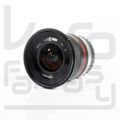 SALE Samyang 12mm f/2.0 NCS CS Lens for Fuji X Mount (Black)