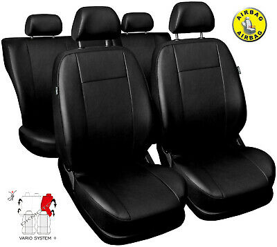 Enjoyable Black Leatherette Full Set Tailored Seat Covers Mercedes Pdpeps Interior Chair Design Pdpepsorg