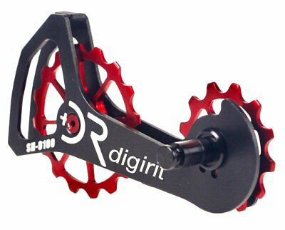 Digirit Road Bicycle Bike Oversize Pulley System for Shimano R9100//R8000 Red