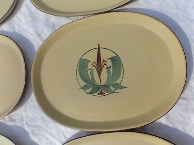 Honiton Pottery 5 steak plates Redvers era Alan Caiger-Smith Aldermaston style