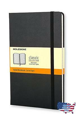 Moleskine Classic Notebook, Pocket, Ruled, Black, Hard Cover (3.5 x 5.5), New, F