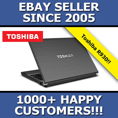 "TOSHIBA PORTEGE R930 i5 2.6 GHZ 4GB 640GB HDD 13"" WINDOWS 10"