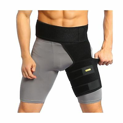 Compression Brace Hamstring Hip Thigh Groin Support Injury Sleeve Leg