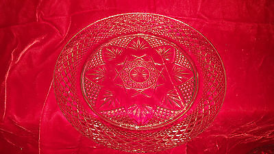 Cristal D'Argues-Durand 8 inch luncheon plate in antique- clear # 2801