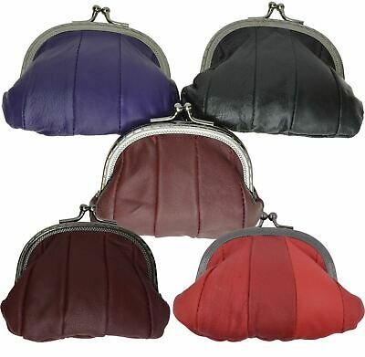 Genuine Leather Coin Purse Women Card Change Holder Ladies Small Wallet Colors
