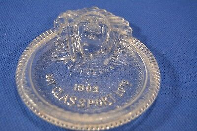 Antique Glass Ash Tip Tray Buy Glassport Lots 1903 Advertising