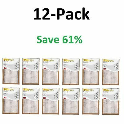 Filtrete- Air-Filter 12 Pleated Furnace Replacement Pad Dust Pack Lot of 12