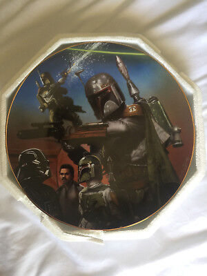 Boba Fett Vintage Heroes and Villians Plate Collection