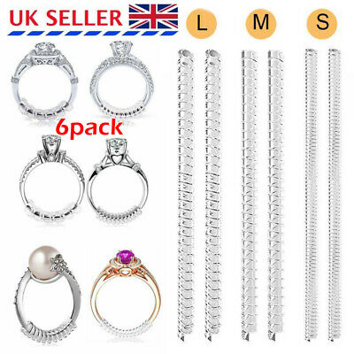 Ring Size Adjuster Sizer Snuggies Reducer Spiral Resizer One Size Fits All 6Pcs