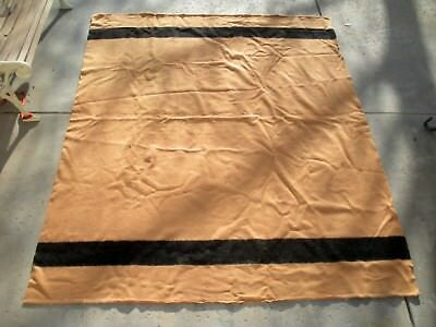 "Antique Witney Point Wool Blanket from the 1940s 4 Point 90"" x 72"""