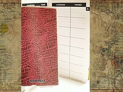 NEW Nature Series Address Book ADDRESS TELEPHONE EMAIL Vintage Pink Snakeskin