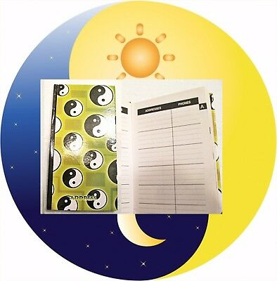 NEW Nature Series Address Book 50 Pages ADDRESS TELEPHONE EMAIL Yin Yang