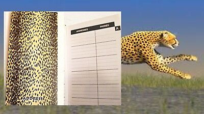NEW Nature Series Address Book 50 Pages ADDRESS TELEPHONE EMAIL Cheeta