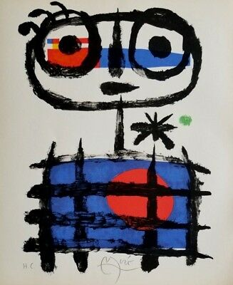 Joan Miro Hand Signed 1958 Lithograph with Pierre Matisse Gallery Seal NYC