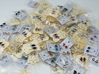 wholesale Lot of 100 Pairs Earrings Mixed.