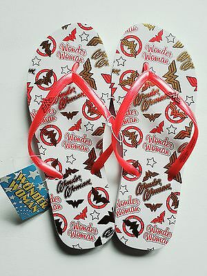 Wonder Woman Flip Flops Shoes New 5 / 6Uk 7 / 8Us 38 / 39Eu Official  Dc Comics