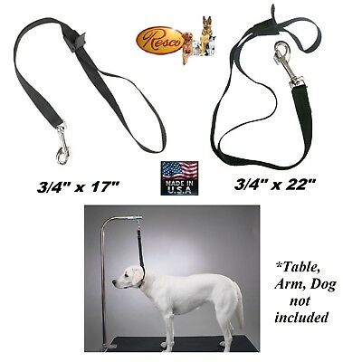 RESCO PRO Flat Nylon Web SPEED NOOSE Loop for DOG Pet Grooming Table Arm Bath
