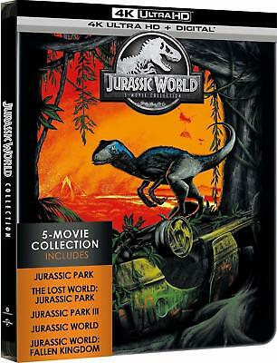 Jurassic World 5 Movie Collection 4K (SteelBook)(4K Ultra HD)(UHD)(DTS:X)