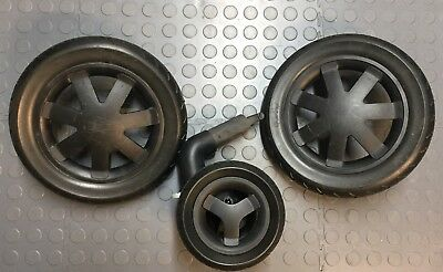 Quinny Buzz Xtra Foam Filled Set Of Wheels -  Front & Back - Damaged