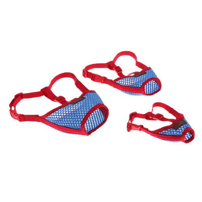 Pet Dog Adjustable Anti Stop Chewing Mask Bark Bite Mouth Muzzle Grooming