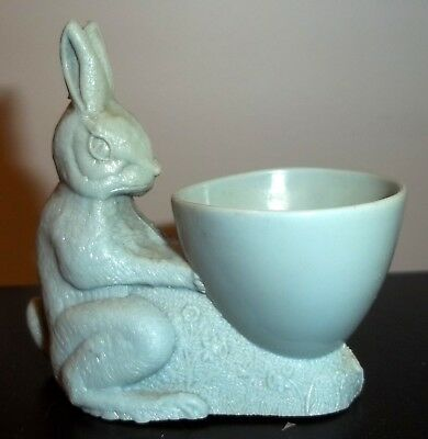 Mid Century 1950s Plastic Bunny Rabbit Egg Cup British Made Eggcup