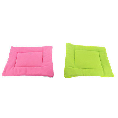 2Pcs Soft Fleece Pet Dog Kennel Cat Puppy Bed Mat Pad House Cushion S