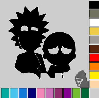 "Rick and Morty 3""! GLOSS or MATTE! Vinyl Decal Sticker Car, Laptop, Phone"