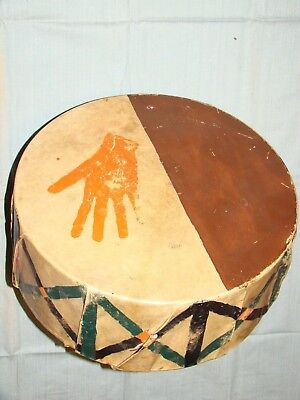Native American Plains Indian Pictorial Drum
