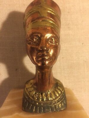 Vintage Used Egyptian Queen Nefertiti Bust Statue Figurine Pharaoh Wife